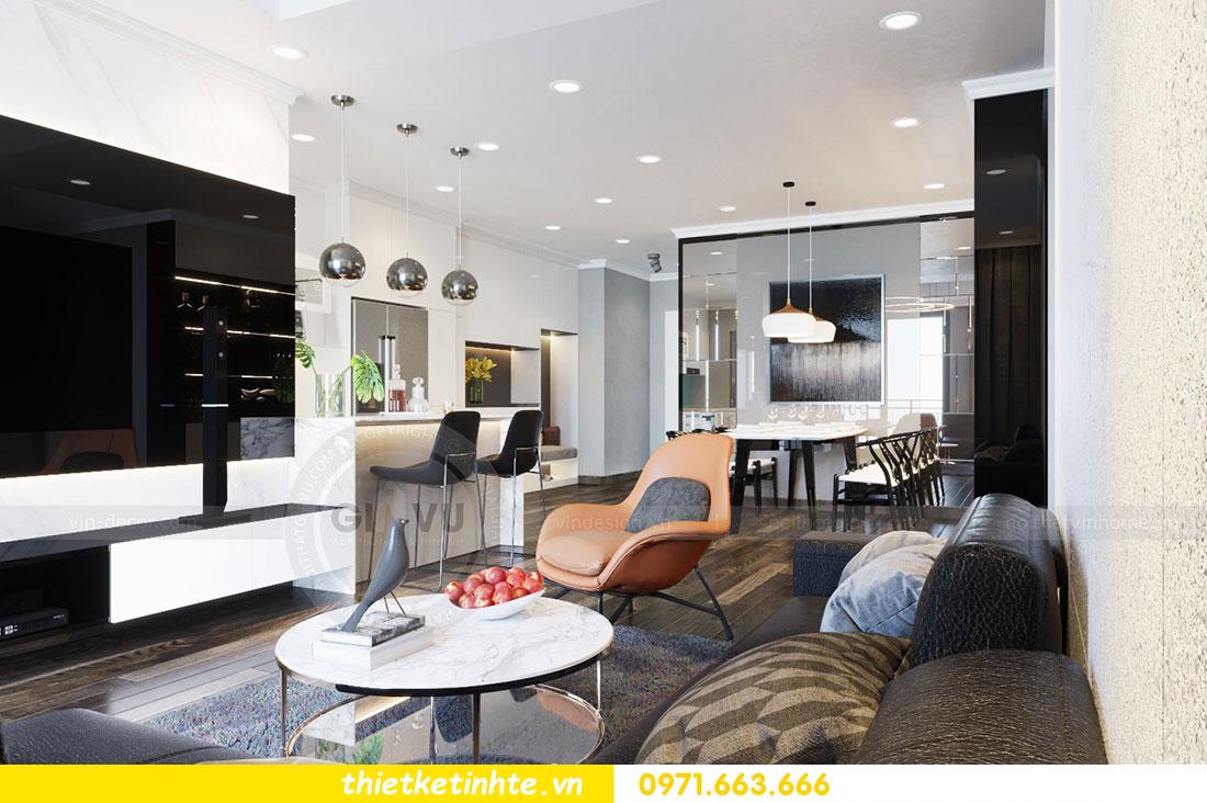 Thiết kế nội thất chung cư dcapitale căn 2 phòng ngủ sang trọng 01