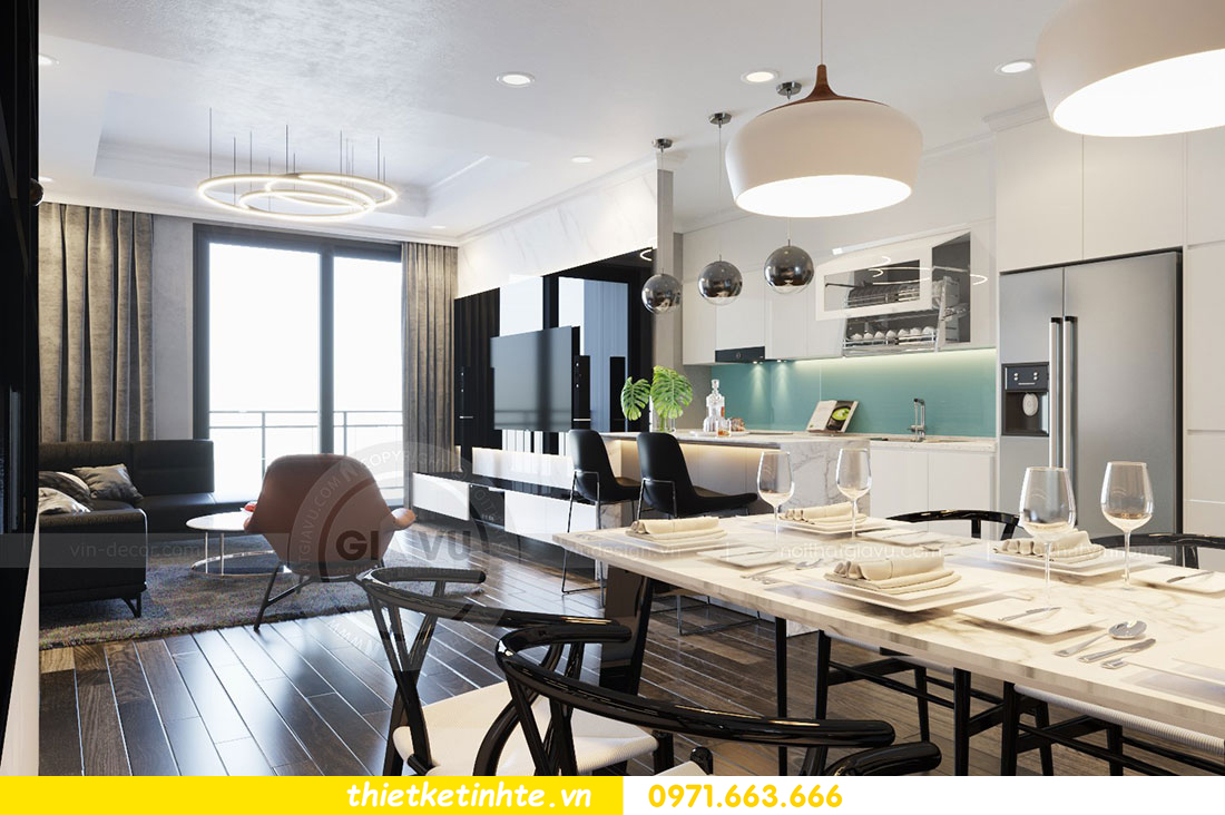 Thiết kế nội thất chung cư dcapitale căn 2 phòng ngủ sang trọng 02