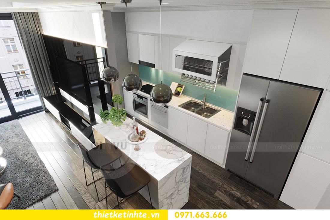 Thiết kế nội thất chung cư dcapitale căn 2 phòng ngủ sang trọng 03