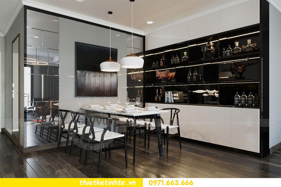 Thiết kế nội thất chung cư dcapitale căn 2 phòng ngủ sang trọng 05