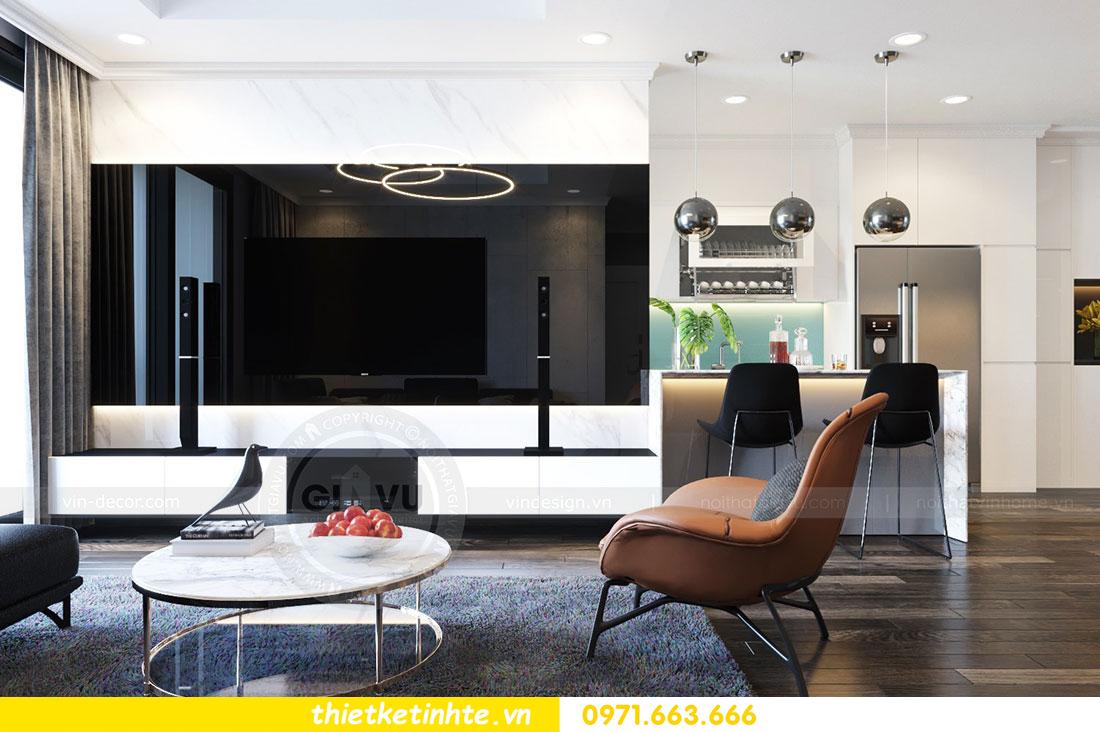 Thiết kế nội thất chung cư dcapitale căn 2 phòng ngủ sang trọng 06