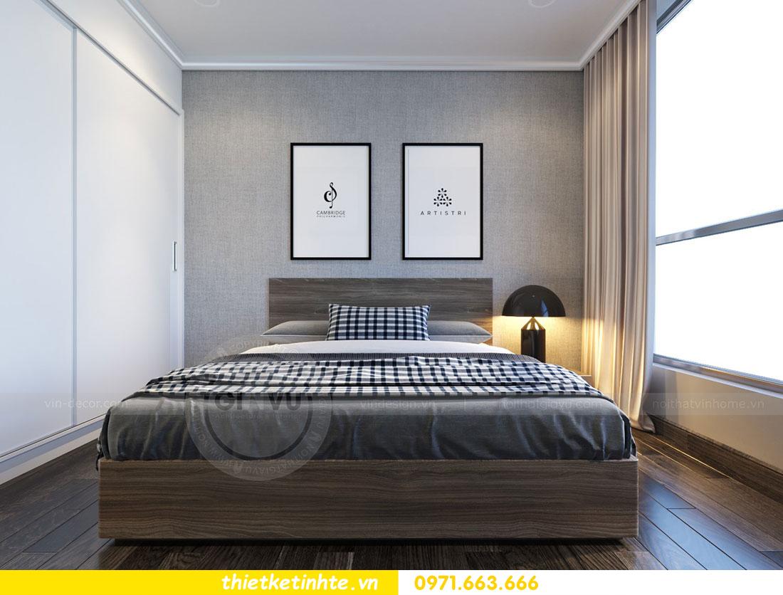 Thiết kế nội thất chung cư dcapitale căn 2 phòng ngủ sang trọng 07