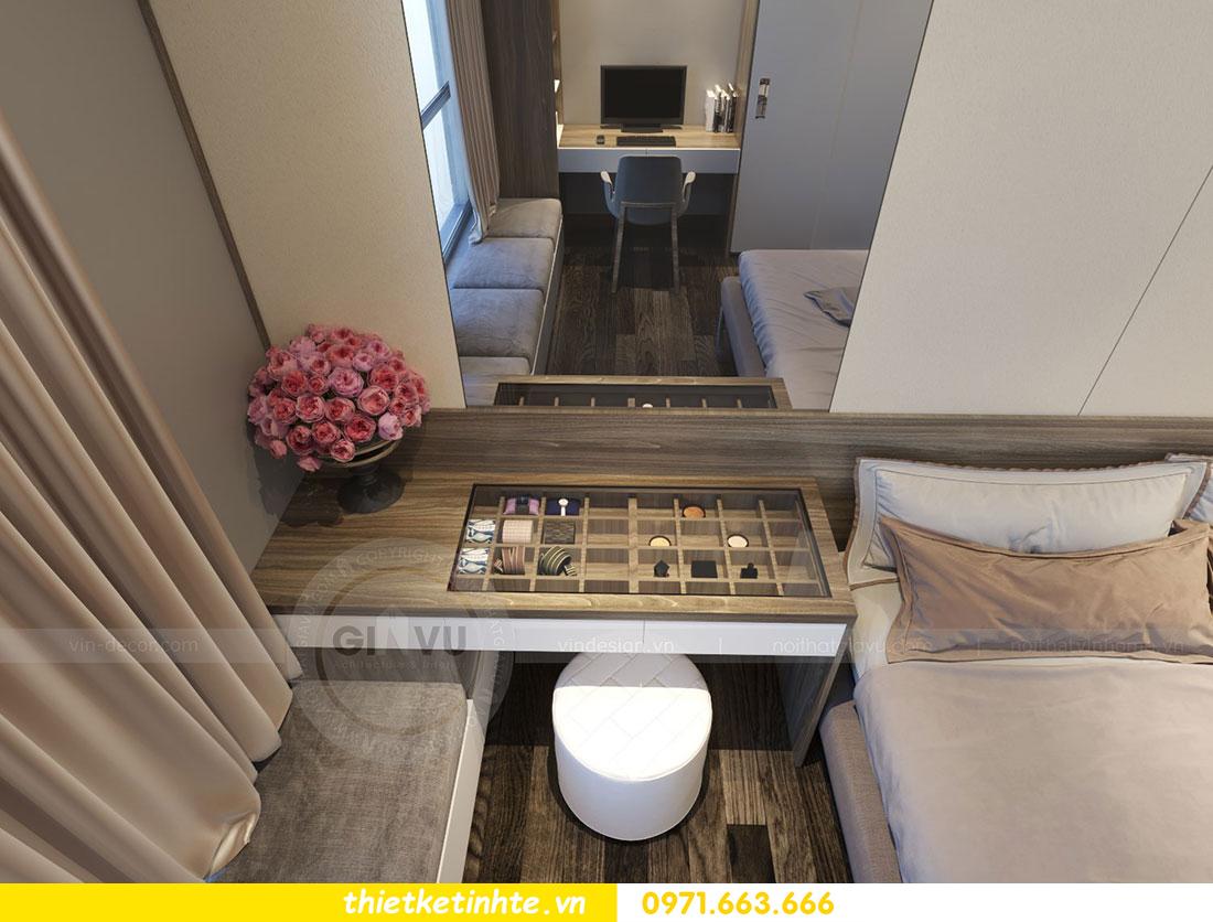 Thiết kế nội thất chung cư dcapitale căn 2 phòng ngủ sang trọng 09