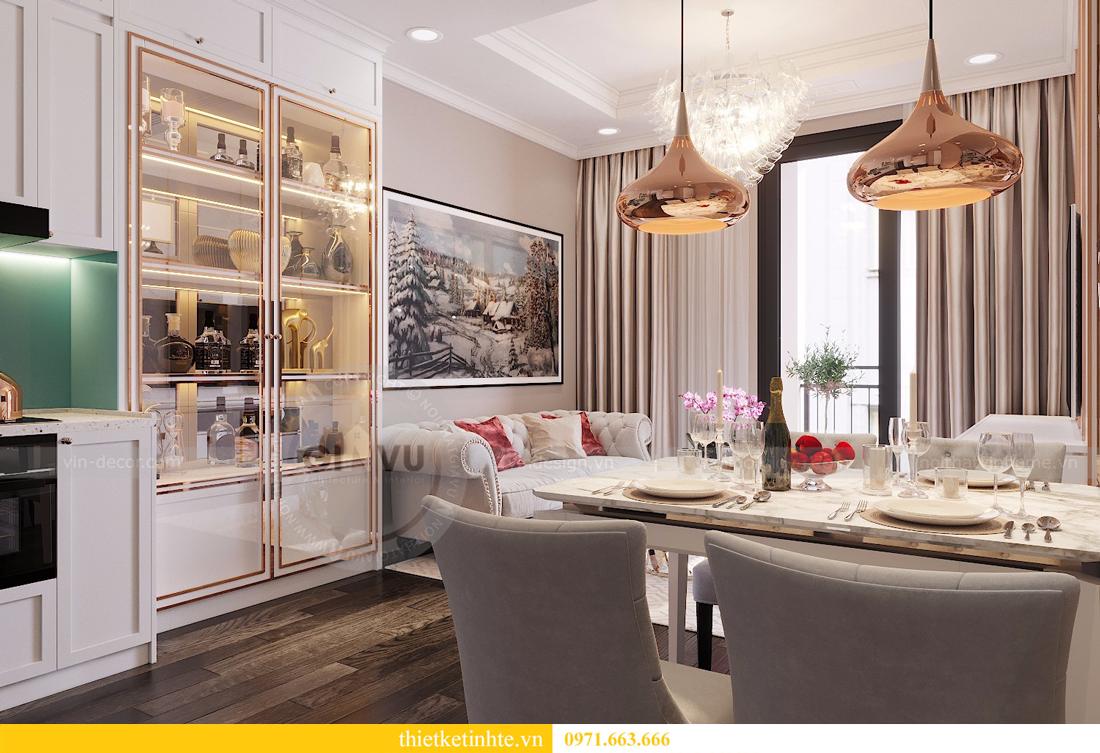 thiết kế nội thất căn 2 ngủ chung cư D Capitale hiện đại 01