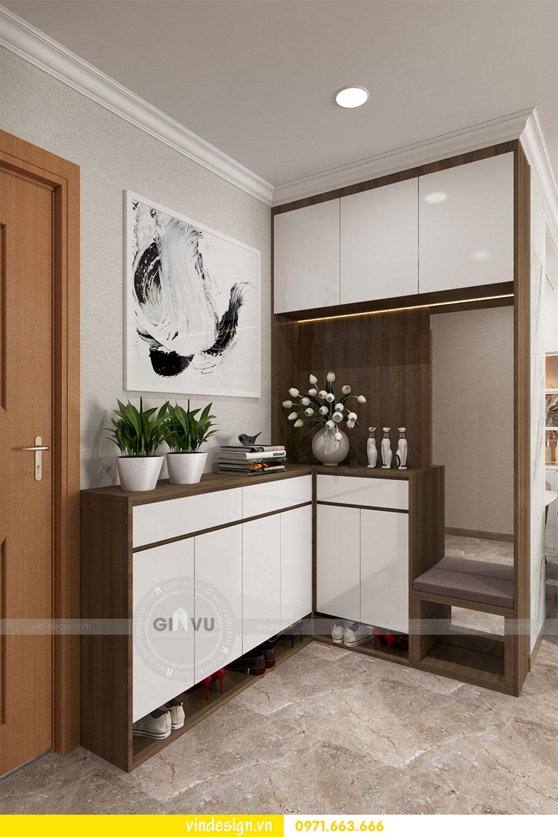 thiết kế nội thất chung cư D Capitale căn 2 phòng ngủ 01