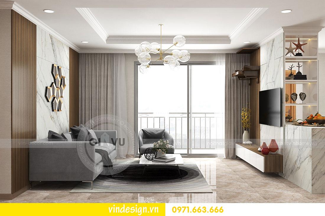 thiết kế nội thất chung cư D Capitale căn 2 phòng ngủ 02