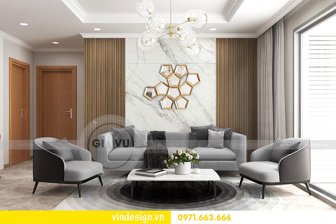 thiết kế nội thất chung cư D Capitale căn 2 phòng ngủ 03