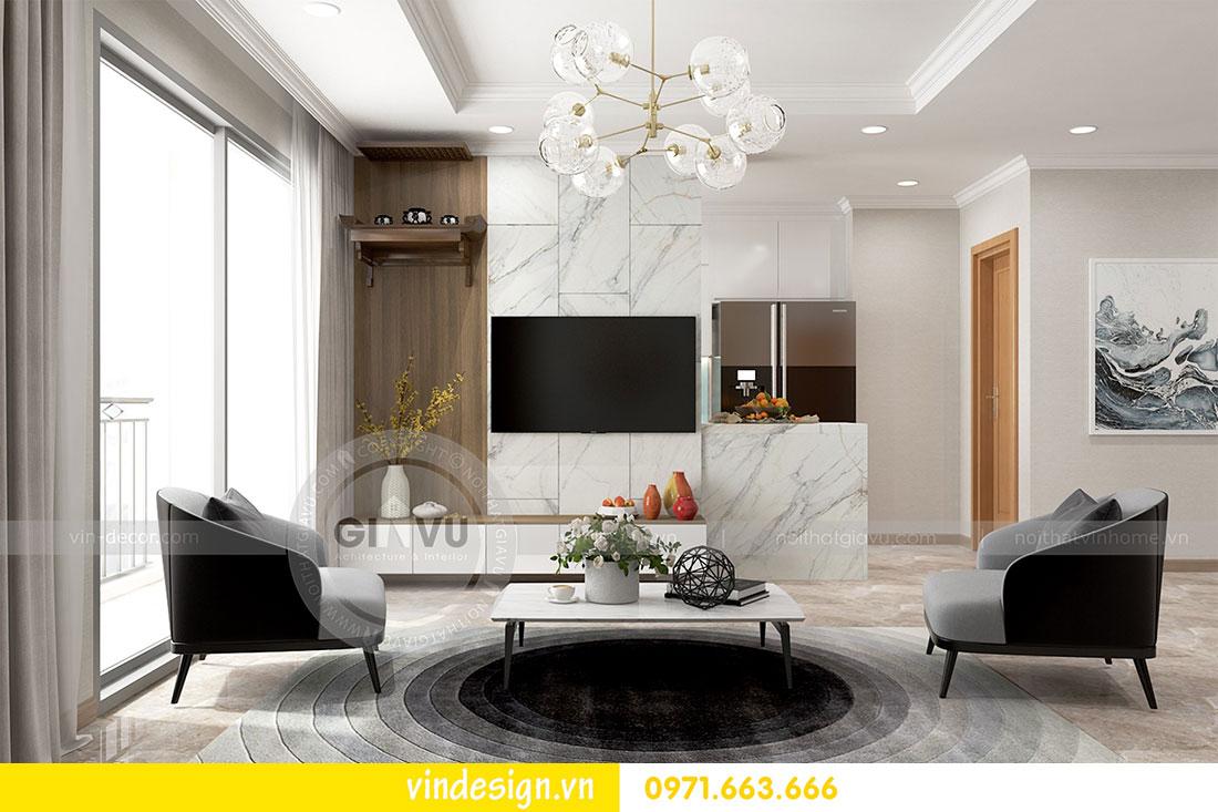 thiết kế nội thất chung cư D Capitale căn 2 phòng ngủ 04