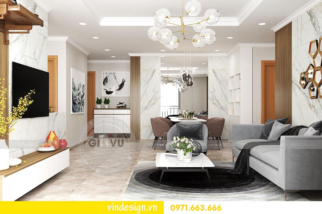 thiết kế nội thất chung cư D Capitale căn 2 phòng ngủ 05