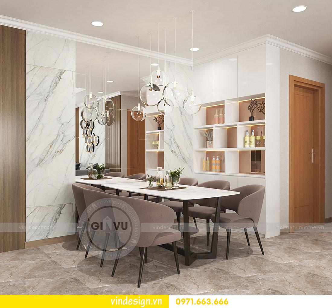 thiết kế nội thất chung cư D Capitale căn 2 phòng ngủ 06