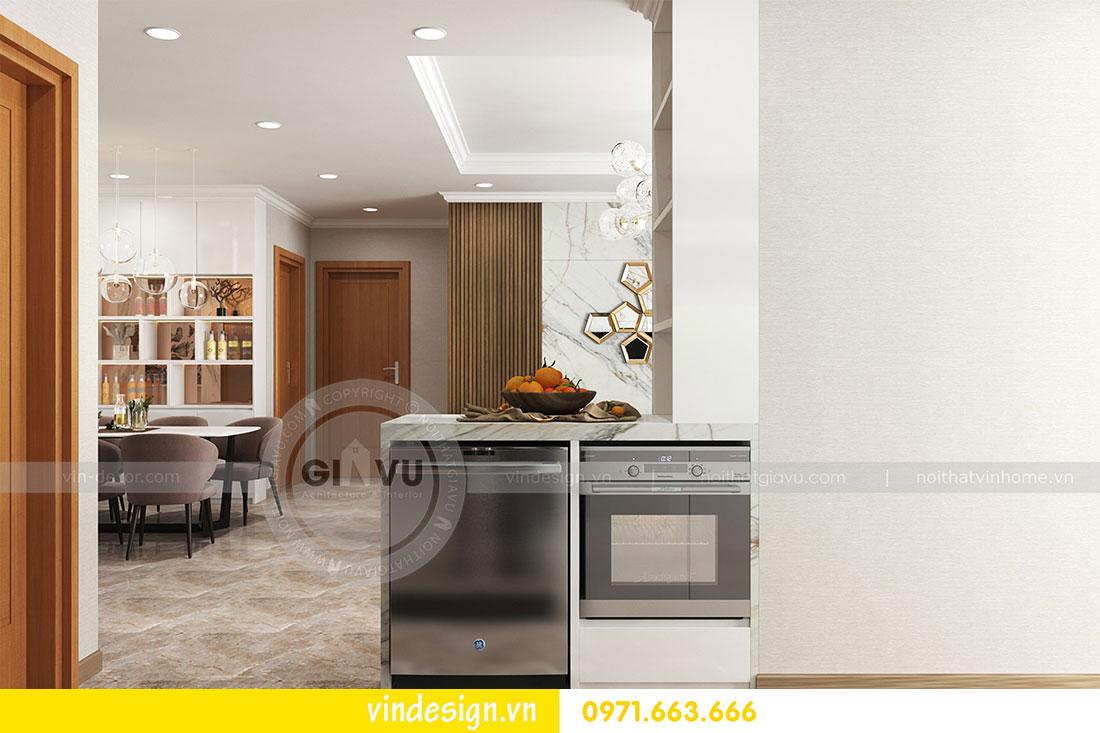 thiết kế nội thất chung cư D Capitale căn 2 phòng ngủ 07