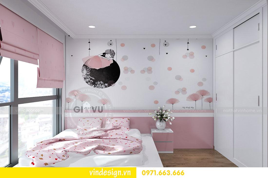 thiết kế nội thất chung cư D Capitale căn 2 phòng ngủ 09