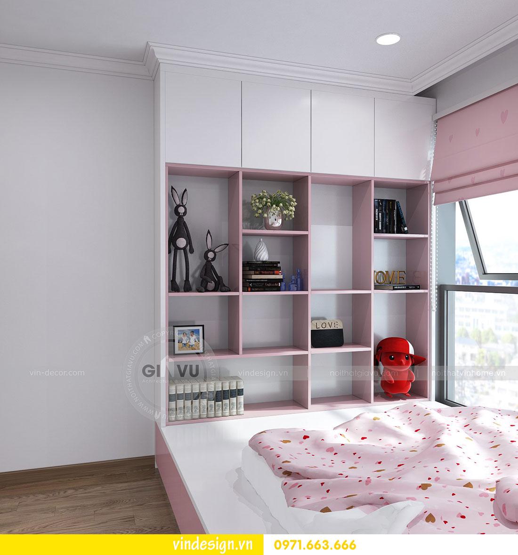 thiết kế nội thất chung cư D Capitale căn 2 phòng ngủ 10