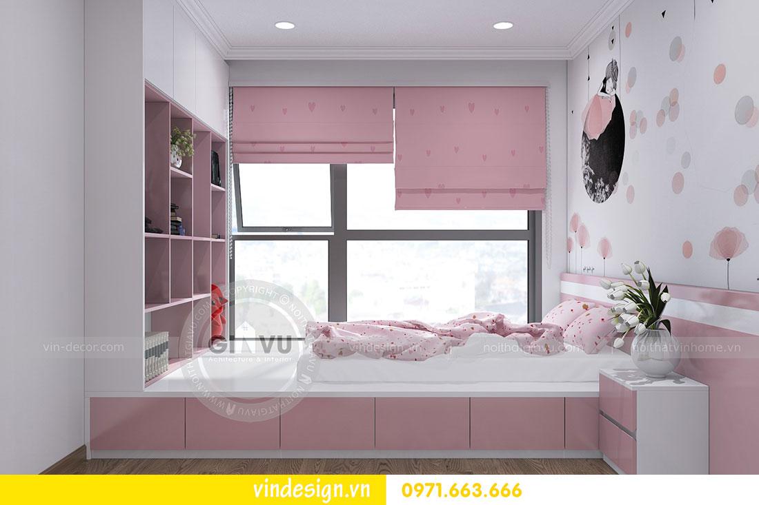 thiết kế nội thất chung cư D Capitale căn 2 phòng ngủ 11