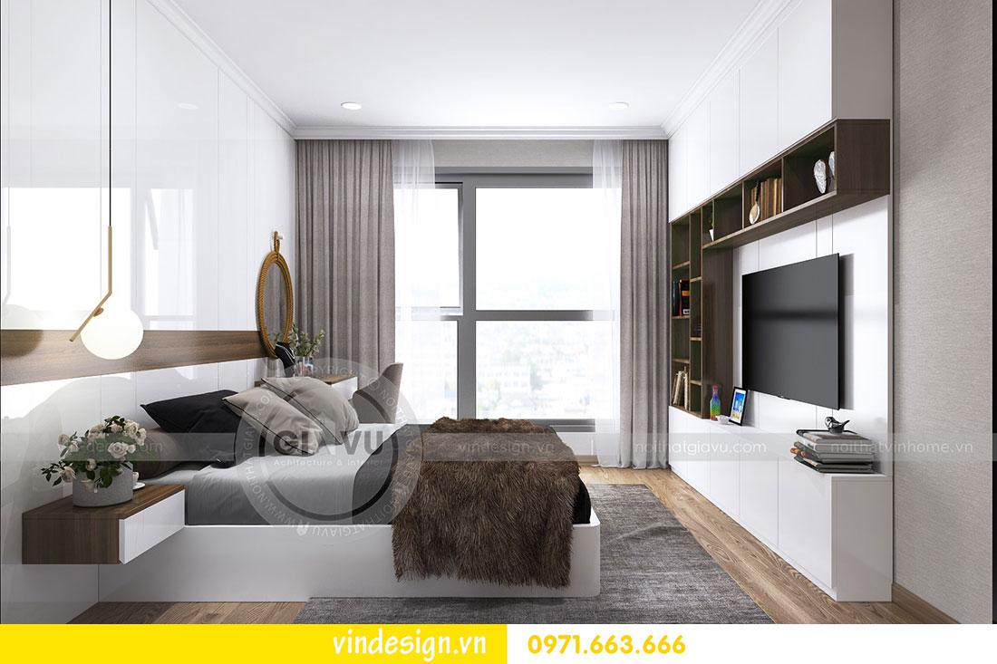 thiết kế nội thất chung cư D Capitale căn 2 phòng ngủ 12