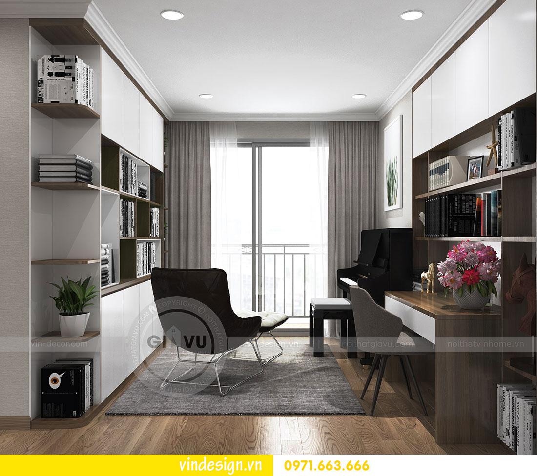 thiết kế nội thất chung cư D Capitale căn 2 phòng ngủ 15