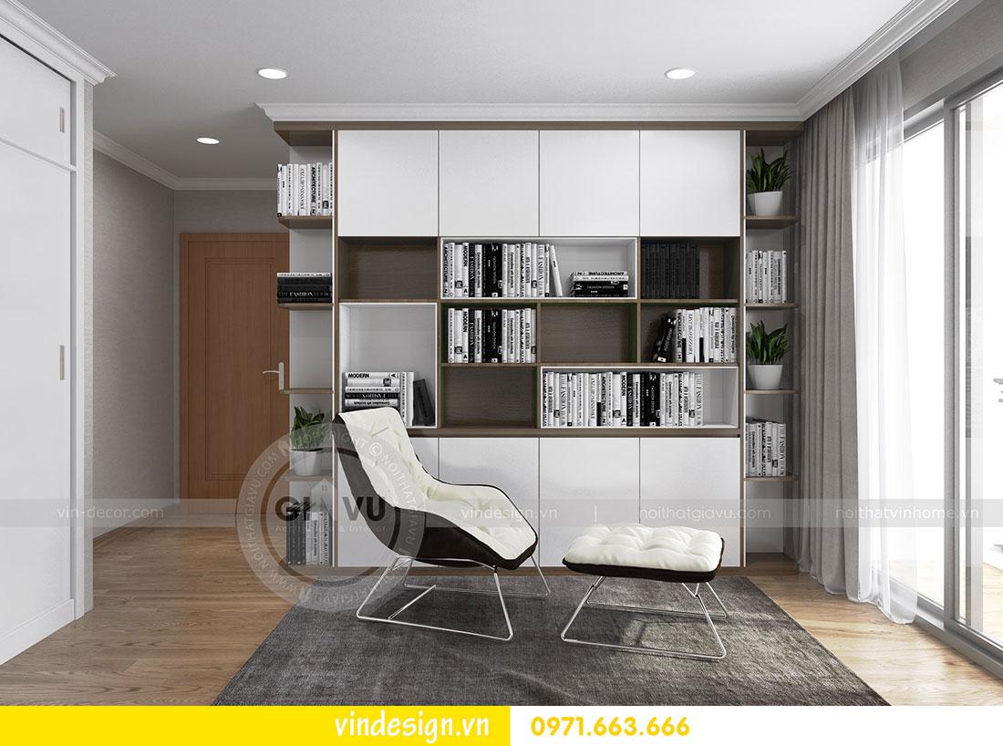 thiết kế nội thất chung cư D Capitale căn 2 phòng ngủ 16