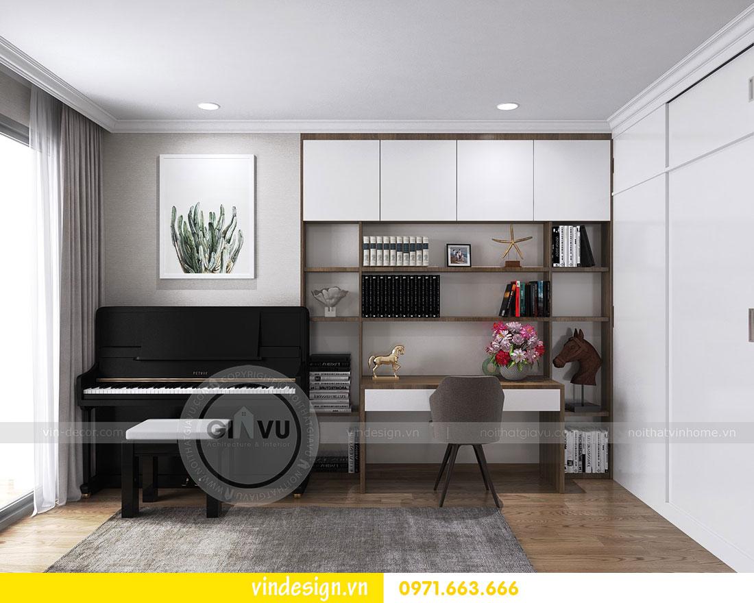 thiết kế nội thất chung cư D Capitale căn 2 phòng ngủ 17
