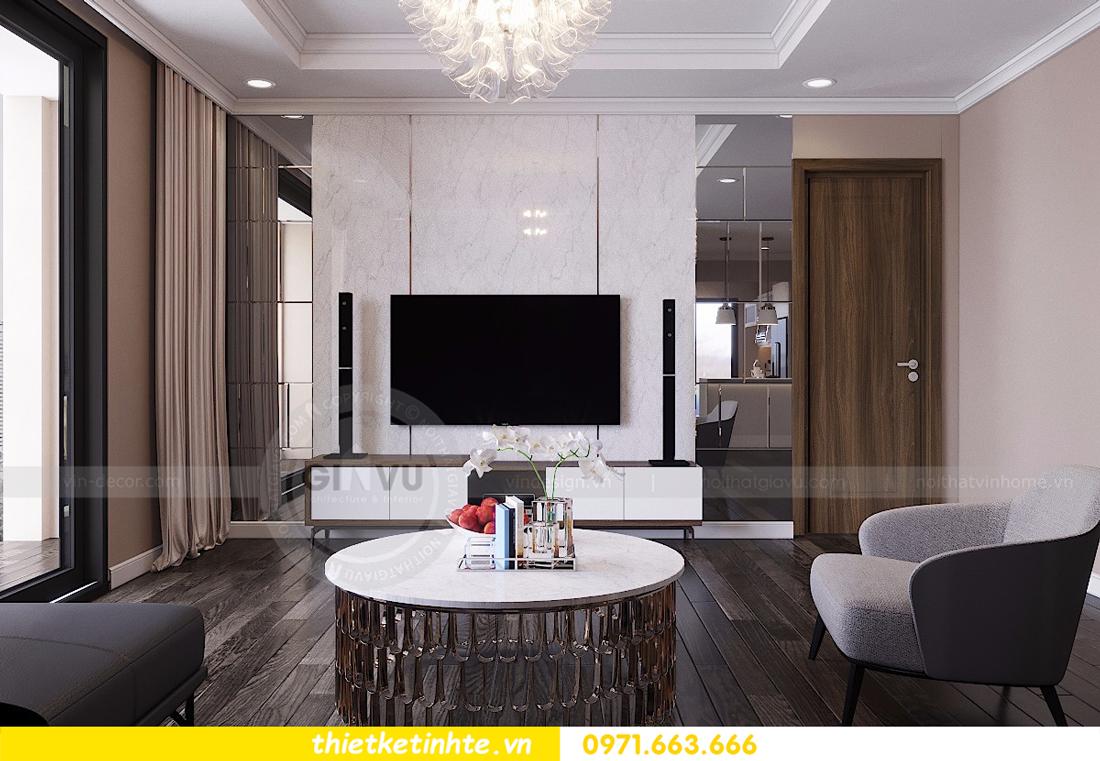 mẫu nội thất phòng khách chung cư D Capitale đẹp hiện đại 02