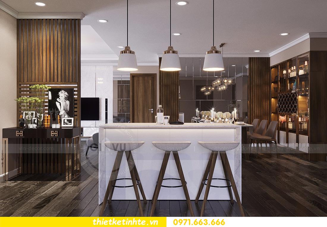 mẫu nội thất phòng khách chung cư D Capitale đẹp hiện đại 04