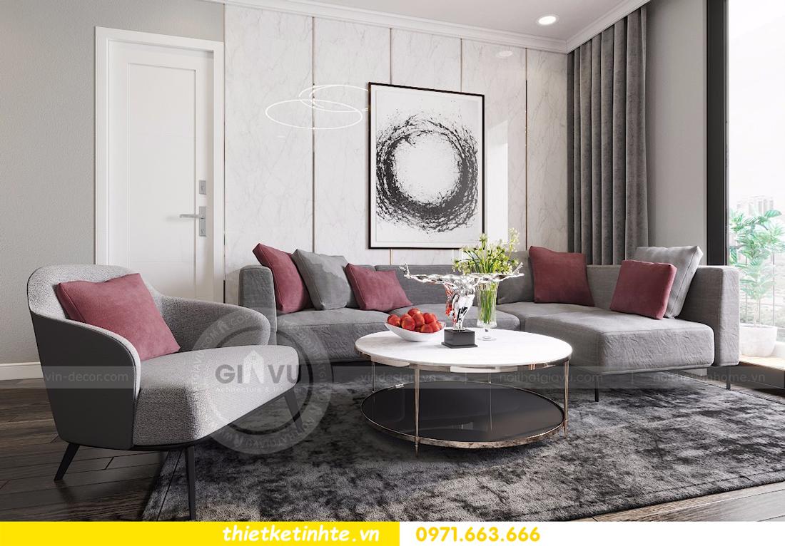 nội thất căn hộ D Capitale thiết kế đẹp hiện đại sang trọng 01