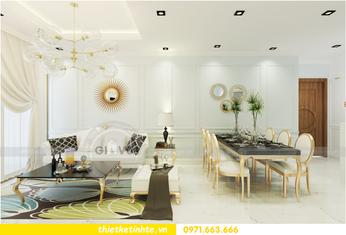 nội thất chung cư D Capitale theo phong cách tân cổ điển 01