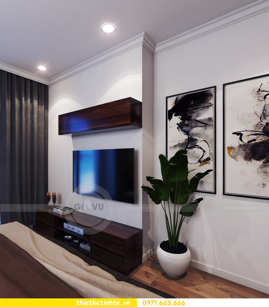 thiết kế nội thất chung cư Park Hill 11 căn 01 anh Hà 14