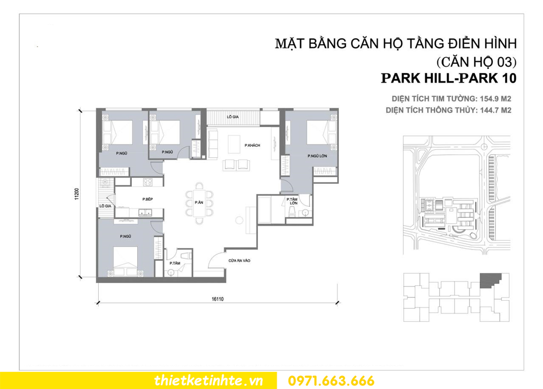 thiết kế nội thất chung cư Park Hill Premium P10 căn 03 nhà chị Lan 001