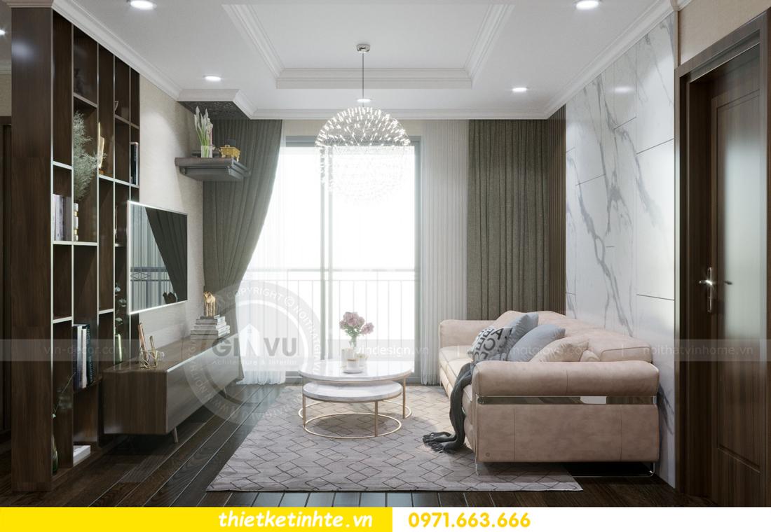 thiết kế nội thất chung cư Vinhomes D'Capitale thanh lịch 01