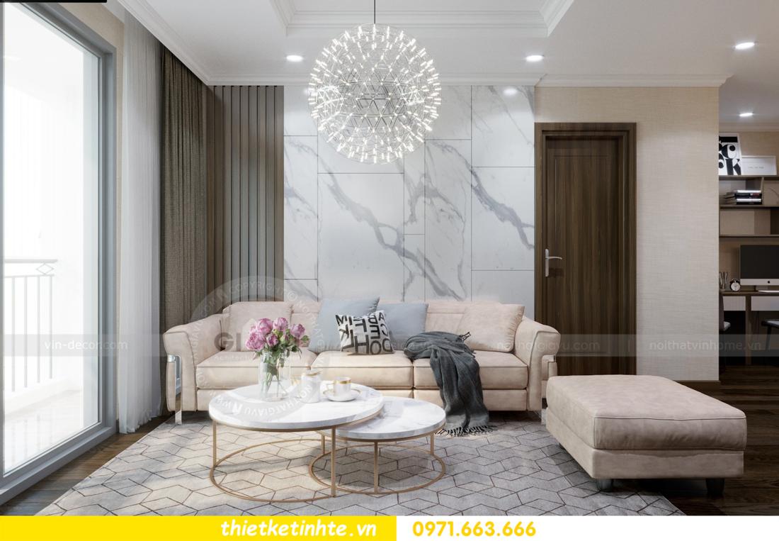thiết kế nội thất chung cư Vinhomes D'Capitale thanh lịch 02