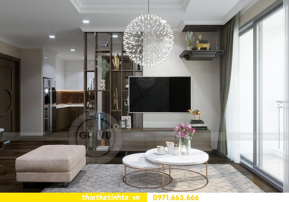 thiết kế nội thất chung cư Vinhomes D'Capitale thanh lịch 03