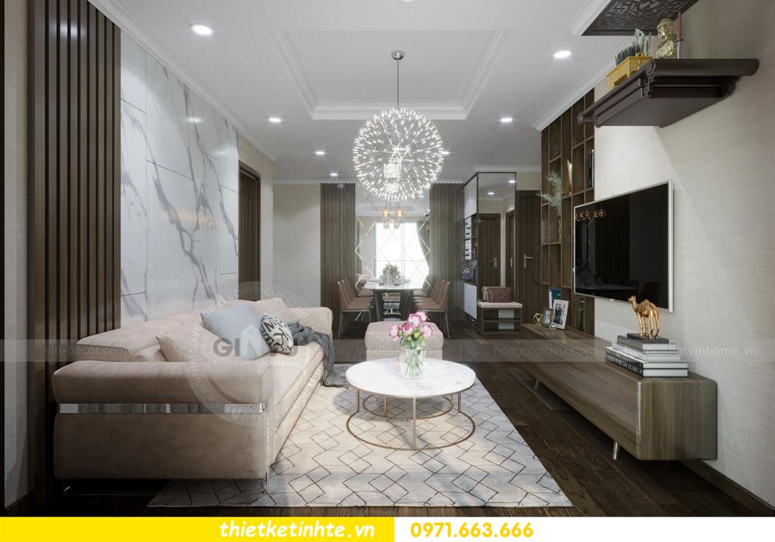 thiết kế nội thất chung cư Vinhomes D'Capitale thanh lịch 04