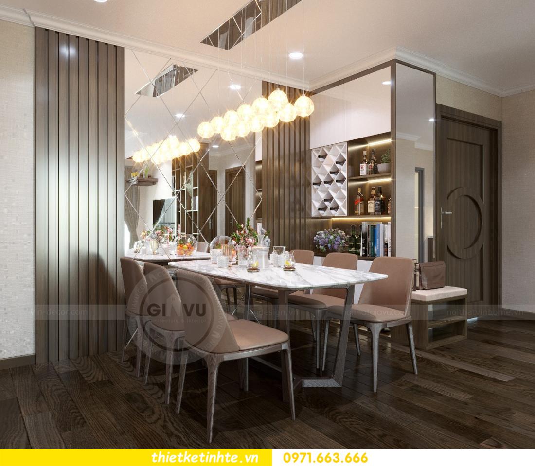 thiết kế nội thất chung cư Vinhomes D'Capitale thanh lịch 05