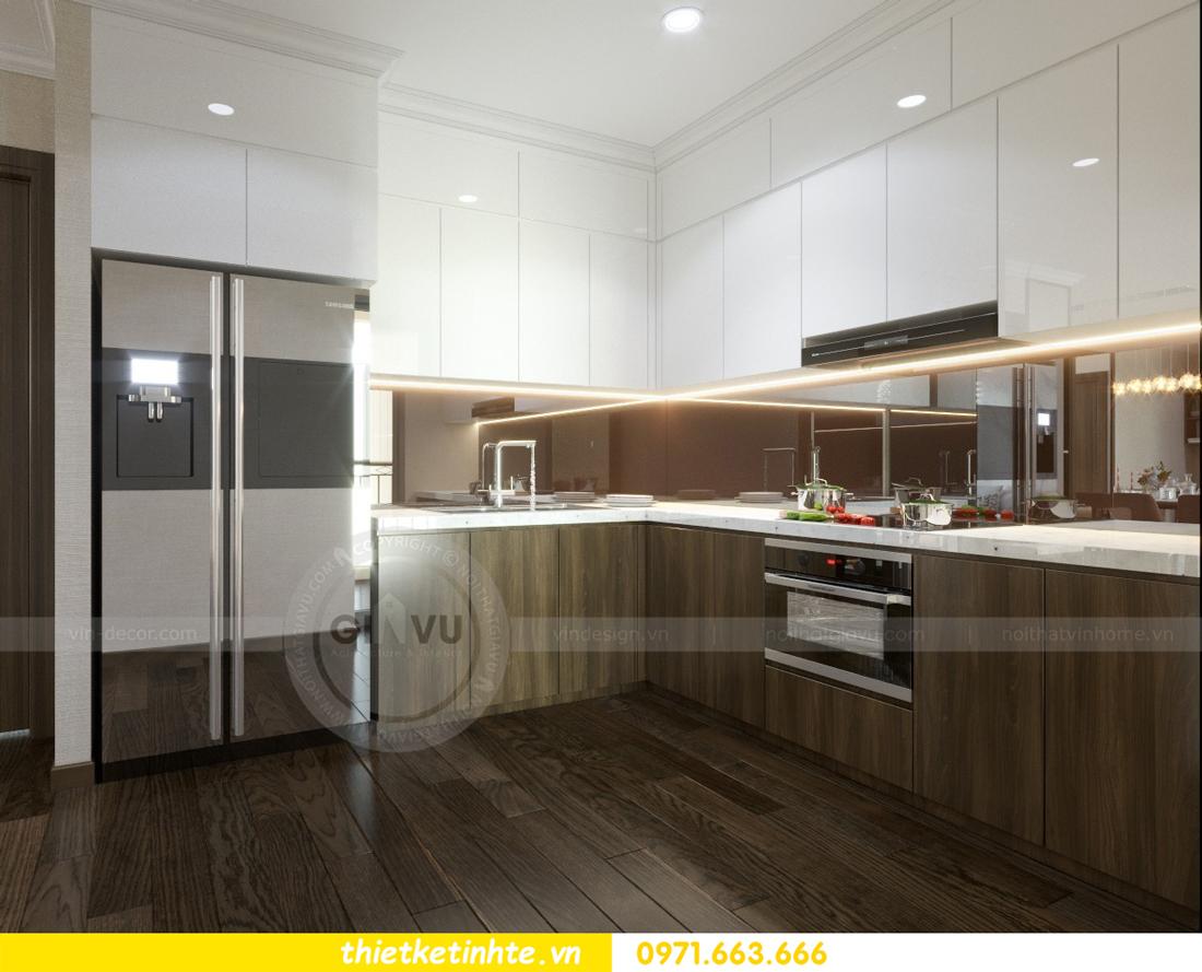 thiết kế nội thất chung cư Vinhomes D'Capitale thanh lịch 06