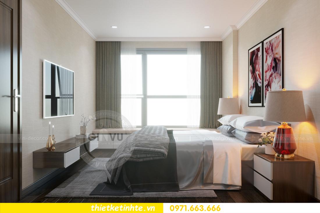 thiết kế nội thất chung cư Vinhomes D'Capitale thanh lịch 07