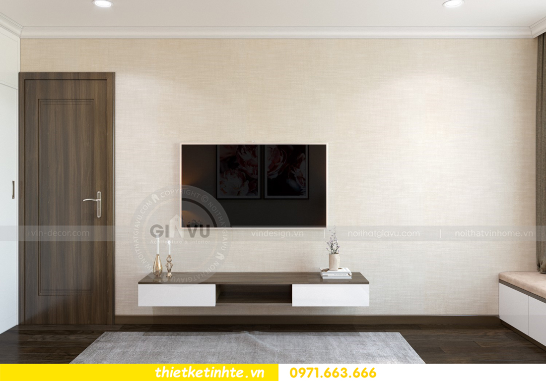 thiết kế nội thất chung cư Vinhomes D'Capitale thanh lịch 09