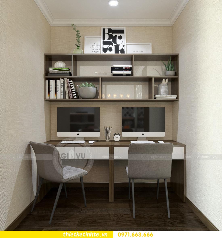 thiết kế nội thất chung cư Vinhomes D'Capitale thanh lịch 13