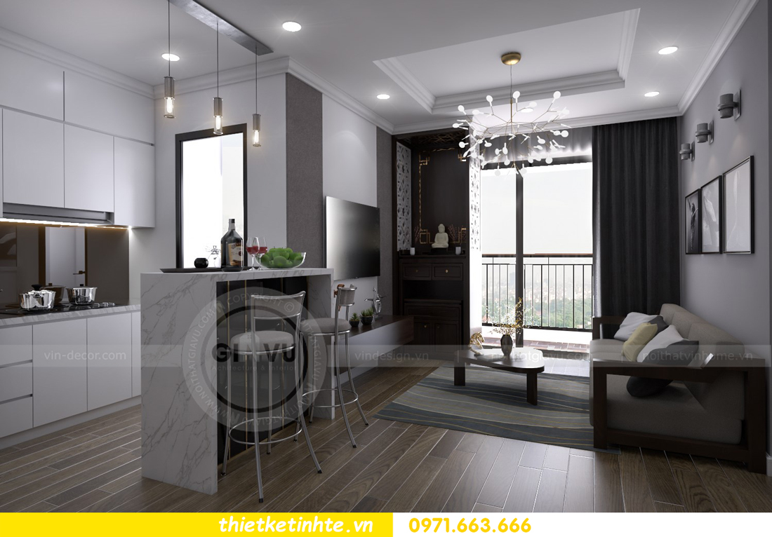thiết kế nội thất chung cư Vinhomes Metropolis Liễu Giai 01