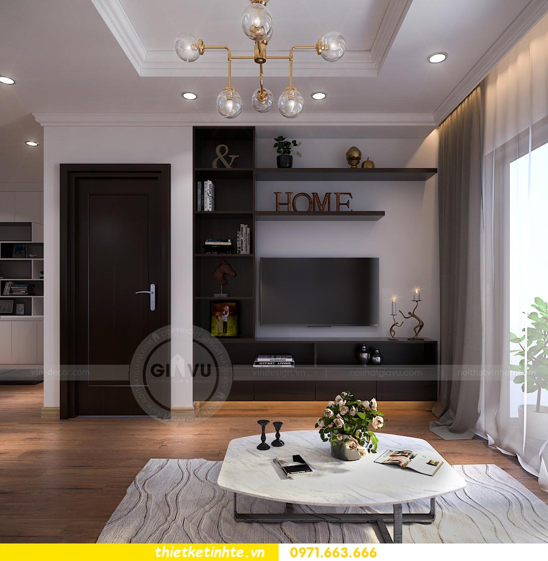 thiết kế nội thất chung cư Vinhomes Sky Lake Phạm Hùng 02