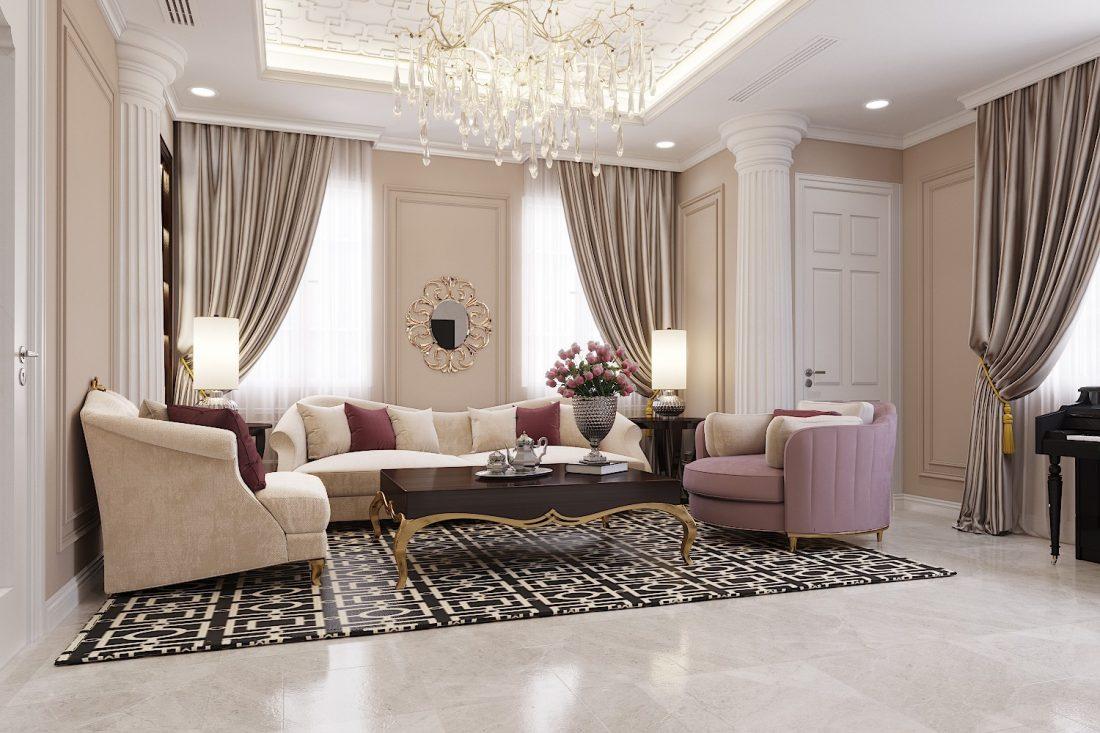 Thiết kế nội thất nhà phố đẹp hiện đại nhà – chị Thủy