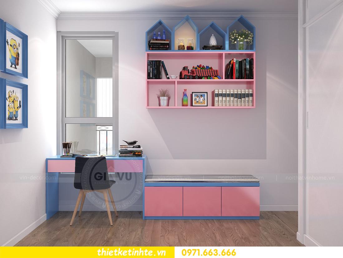 thiết kế nội thất căn hộ chung cư Park Hill 3 căn 09 11
