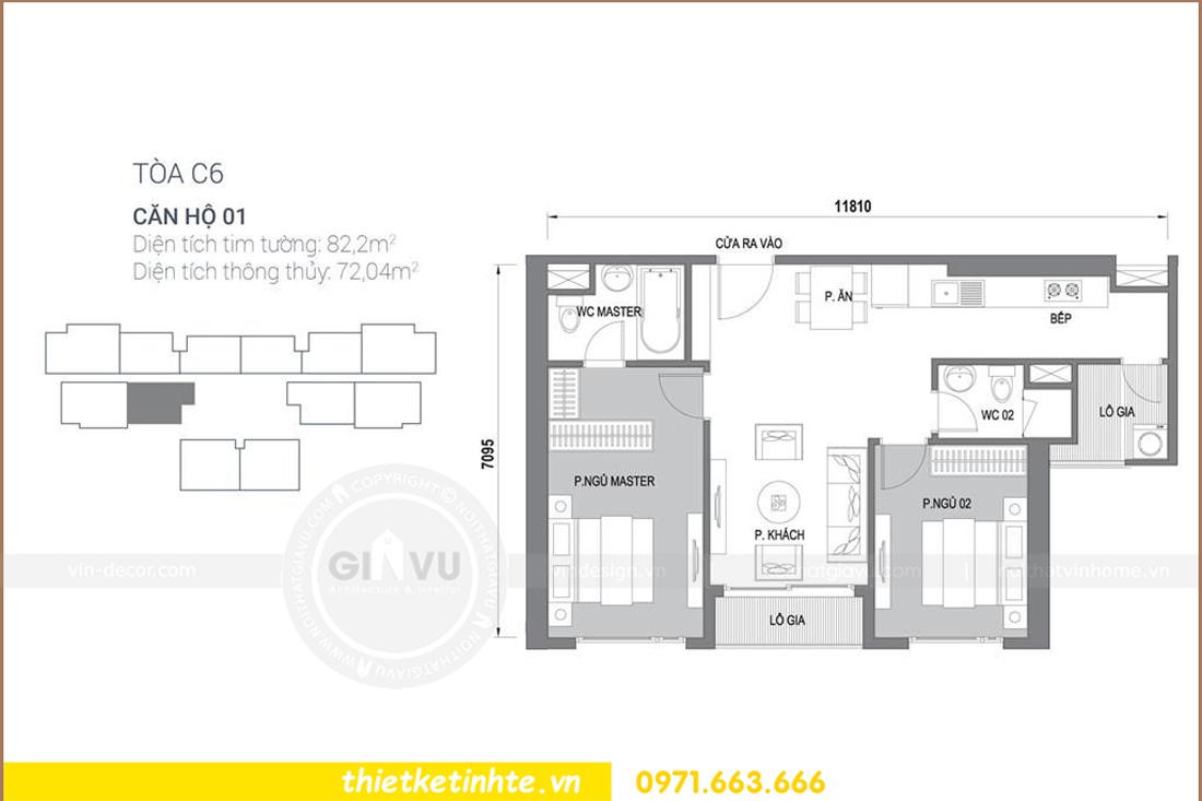 thiết kế nội thất chung cư D Capitale tòa C6 căn 01 thiết kế tinh tế 00