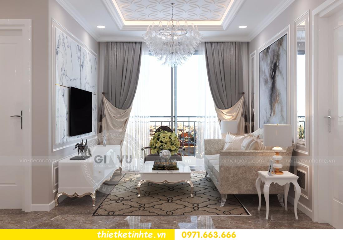 thiết kế nội thất chung cư D Capitale tòa C6 căn 01 thiết kế tinh tế 02