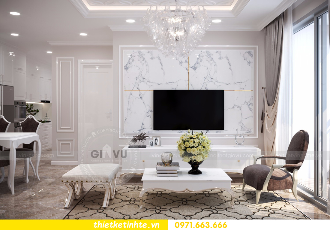 thiết kế nội thất chung cư D Capitale tòa C6 căn 01 thiết kế tinh tế 03