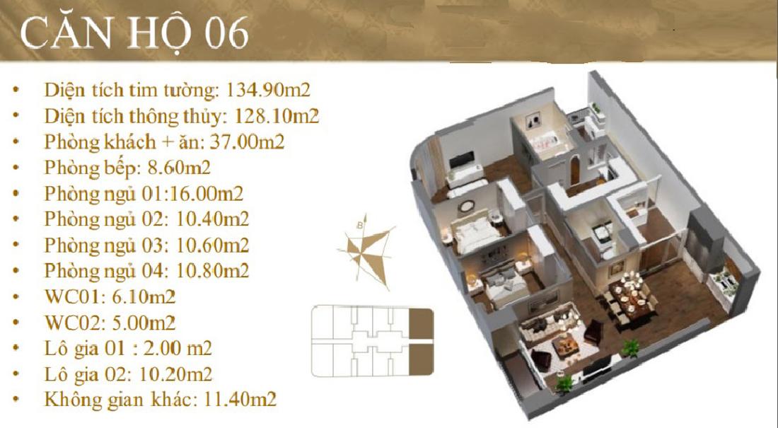 thiết kế nội thất chung cư Imperial Plaza 360 Giải Phóng IP1 CH 06 01