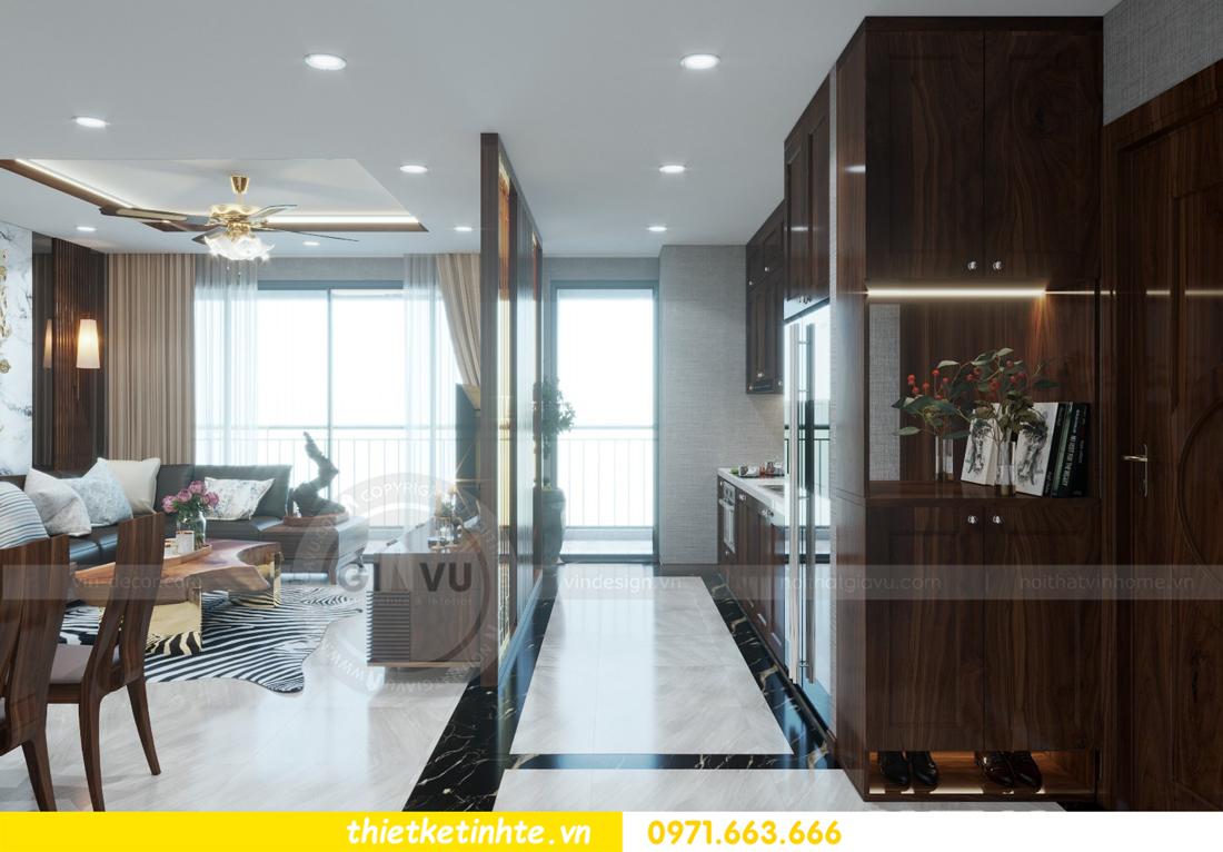 thiết kế nội thất chung cư Metropolis căn 01 tòa M1 02
