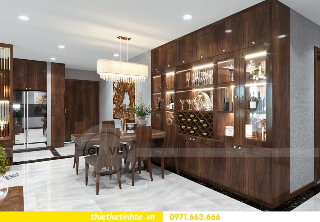 thiết kế nội thất chung cư Metropolis căn 01 tòa M1 03
