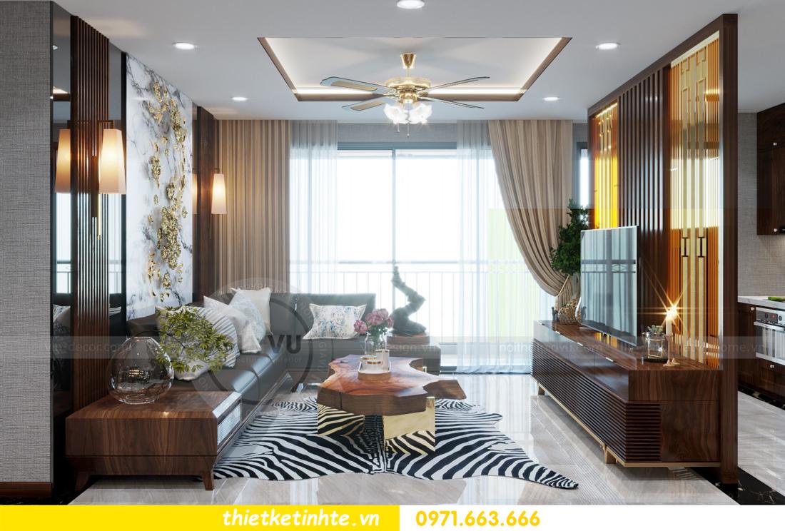 thiết kế nội thất chung cư Metropolis căn 01 tòa M1 04