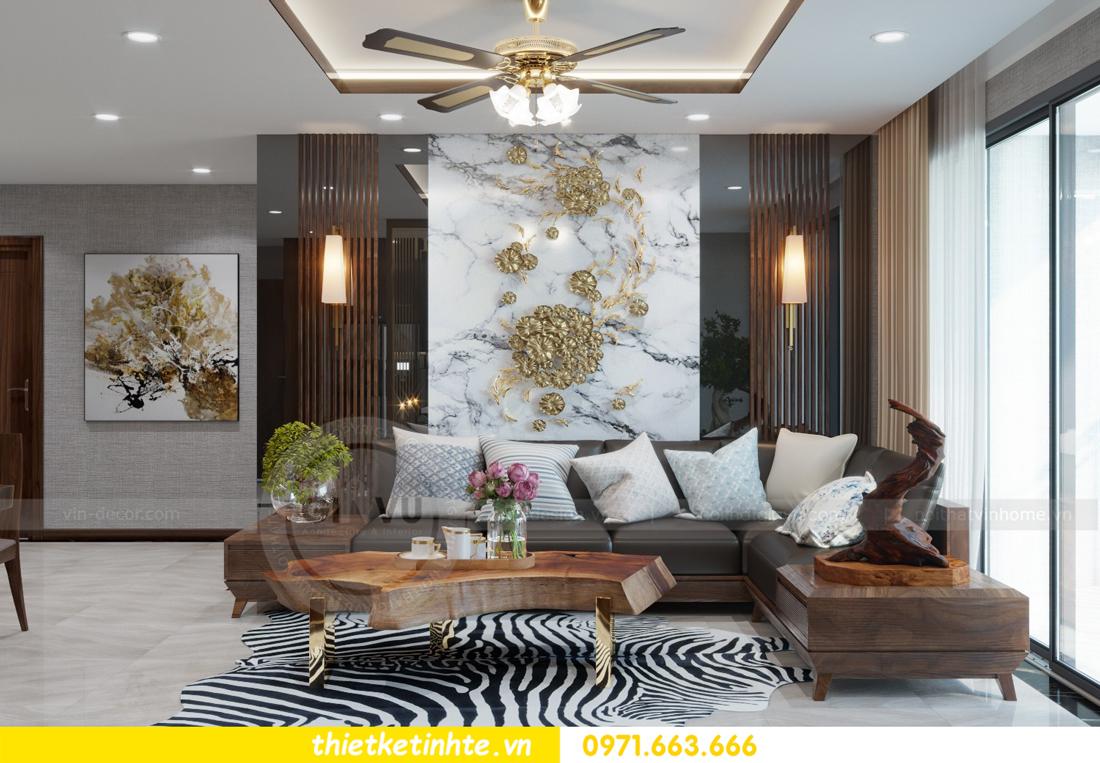 thiết kế nội thất chung cư Metropolis căn 01 tòa M1 05