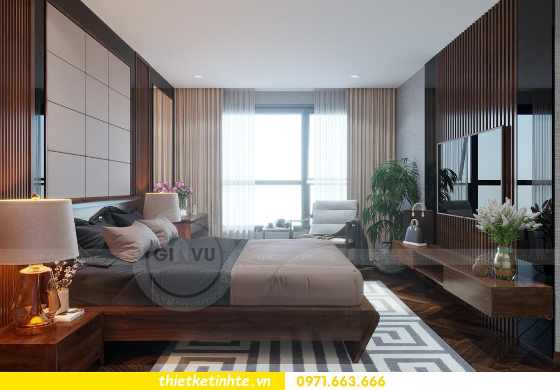 thiết kế nội thất chung cư Metropolis căn 01 tòa M1 07